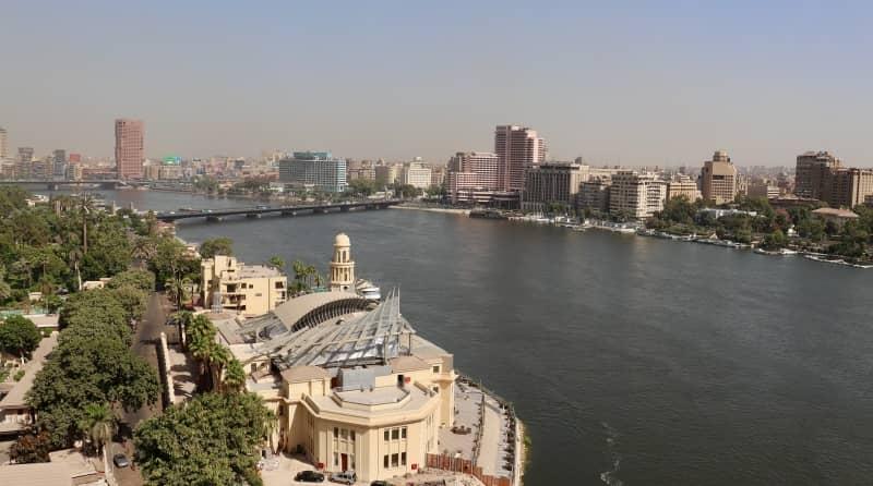 río Nilo en El Cairo Egipto
